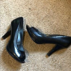 Fergalicious peep toe heels